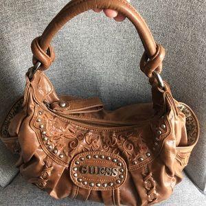 Guess light brown purse